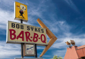 Bob Syke's Barbecue Bessemer alabama  With owner Van Syke's